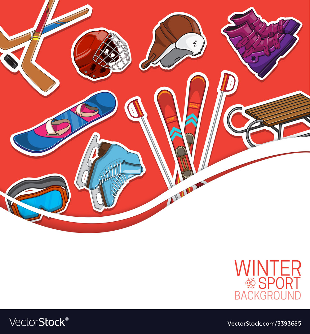 Winter sports background vector | Price: 1 Credit (USD $1)