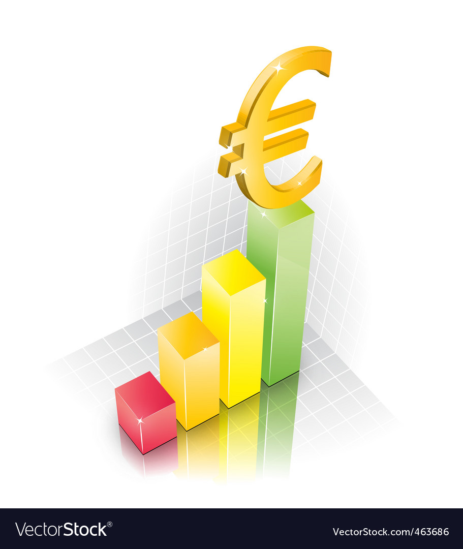 3d euro chart vector | Price: 3 Credit (USD $3)