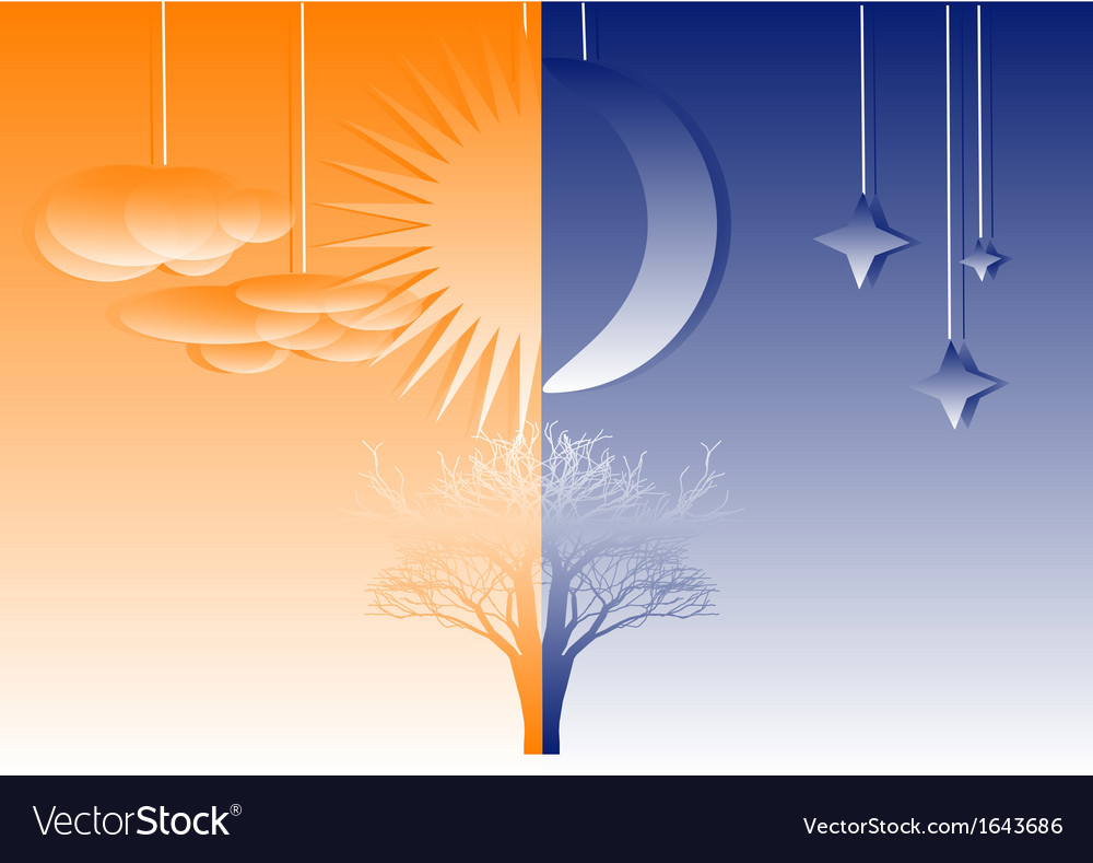 Abstract night and day vector   Price: 1 Credit (USD $1)
