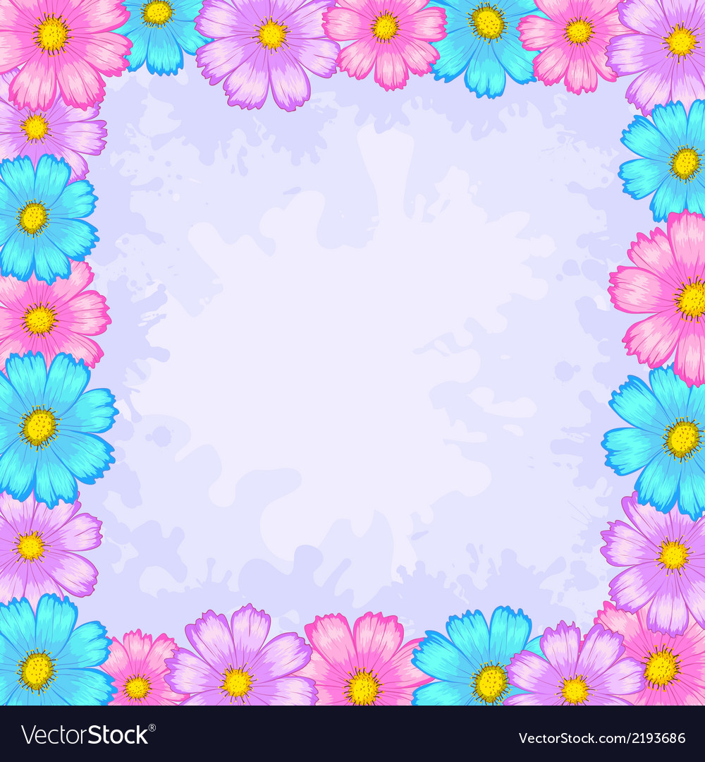 Background frame from flowers vector | Price: 1 Credit (USD $1)