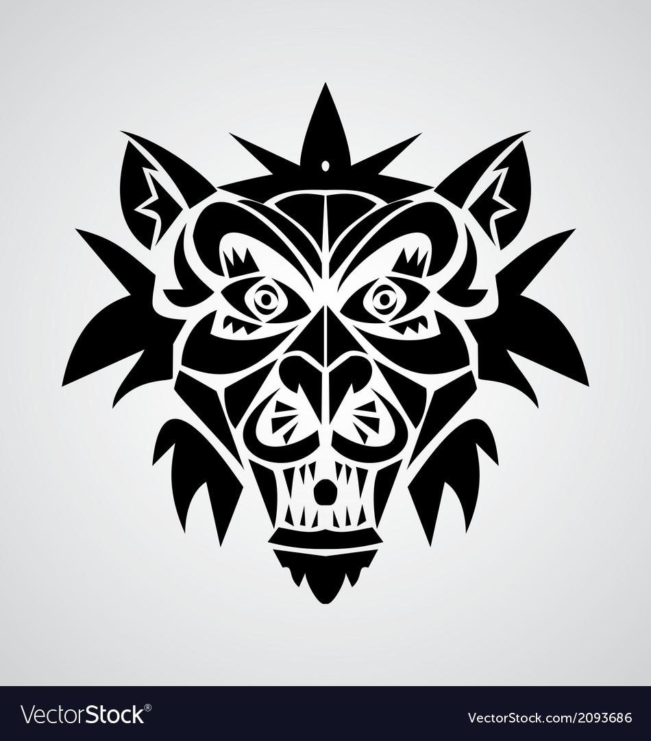 Demon tribal vector   Price: 1 Credit (USD $1)
