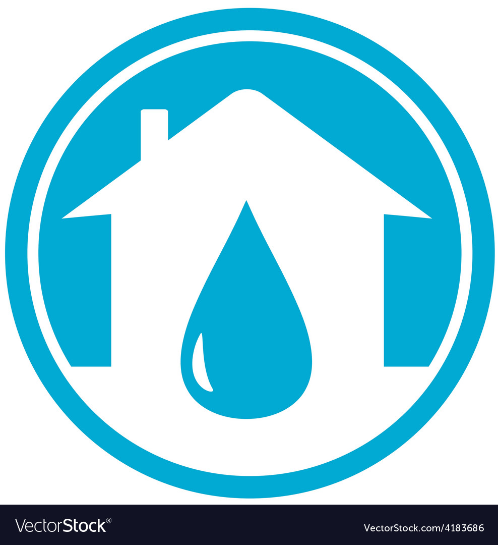 Drop on home icon vector | Price: 1 Credit (USD $1)