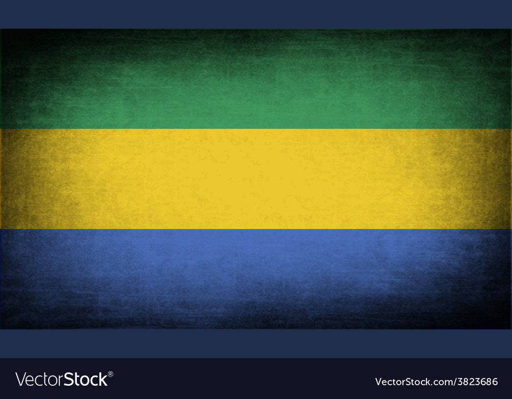 Flag of gabon with old texture vector | Price: 1 Credit (USD $1)