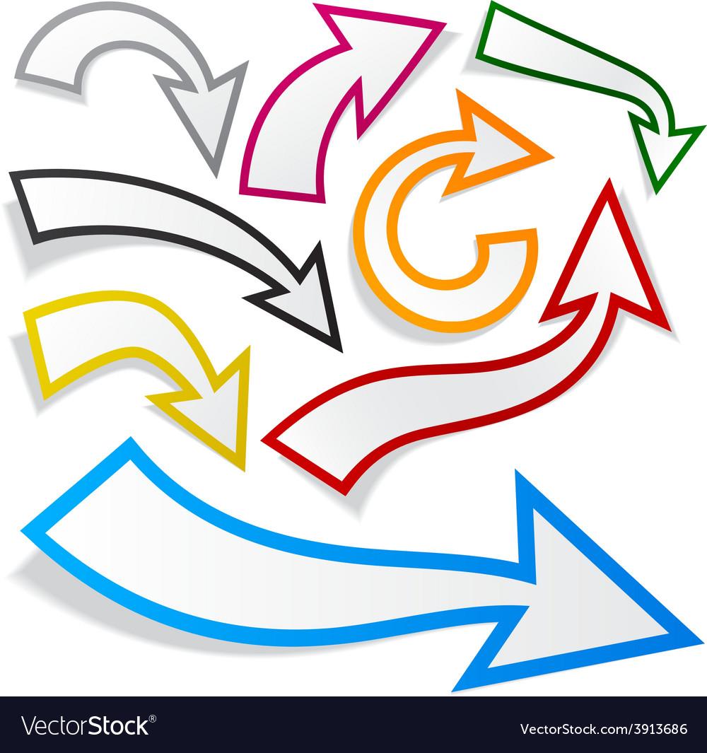 Paper arrows vector | Price: 1 Credit (USD $1)