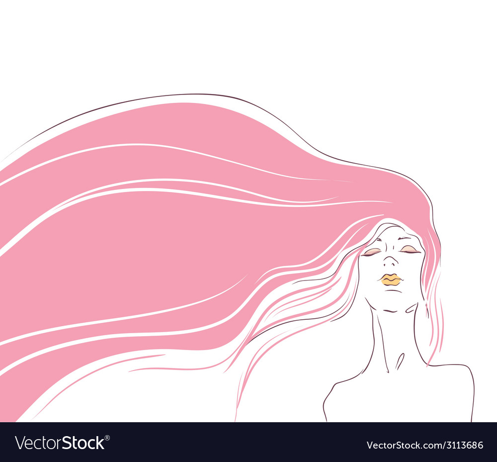 Pink hair vector | Price: 1 Credit (USD $1)