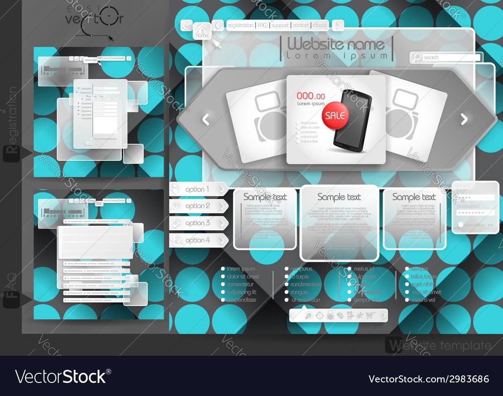 Website design template menu elements vector   Price: 1 Credit (USD $1)