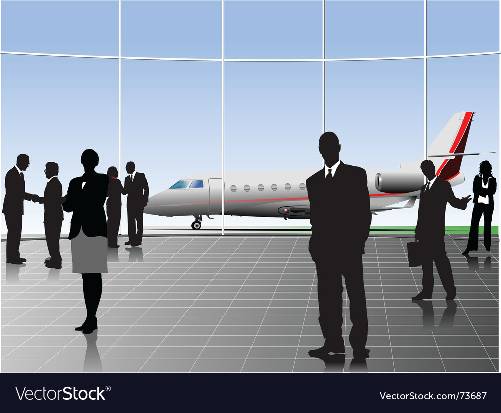 Airport scene vector | Price: 1 Credit (USD $1)
