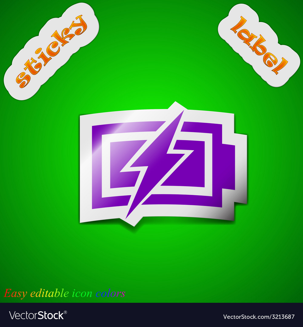 Battery charging icon sign symbol chic colored vector | Price: 1 Credit (USD $1)