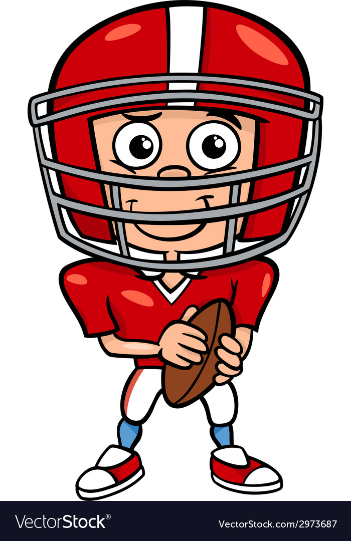 Boy football player cartoon vector | Price: 1 Credit (USD $1)