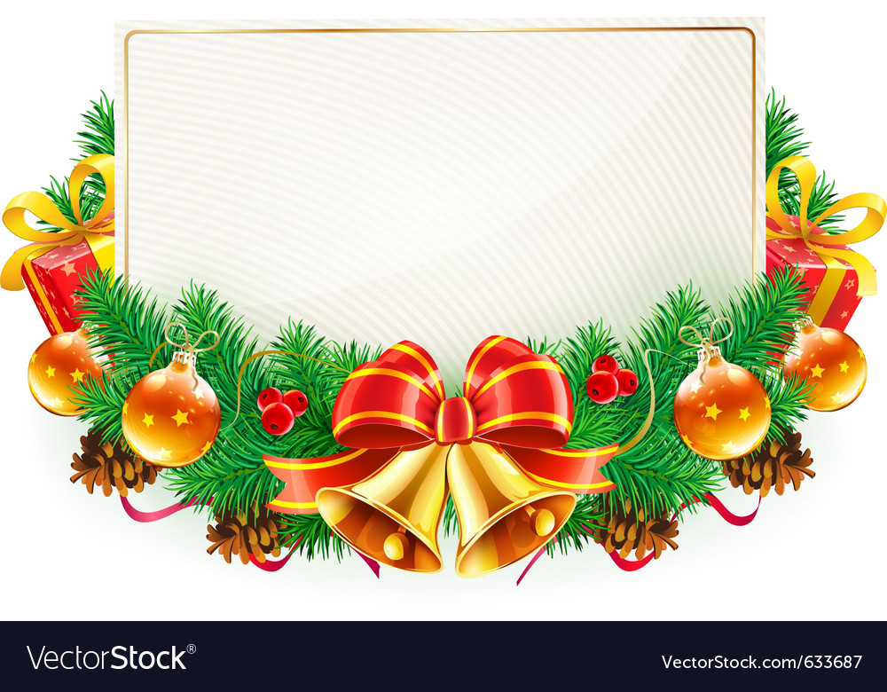 Christmas decorative frame vector | Price: 1 Credit (USD $1)
