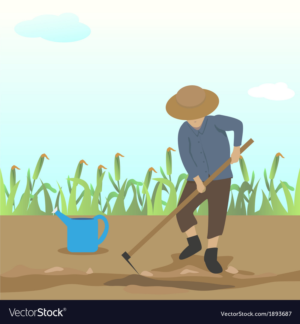 Dig the ground vector | Price: 1 Credit (USD $1)