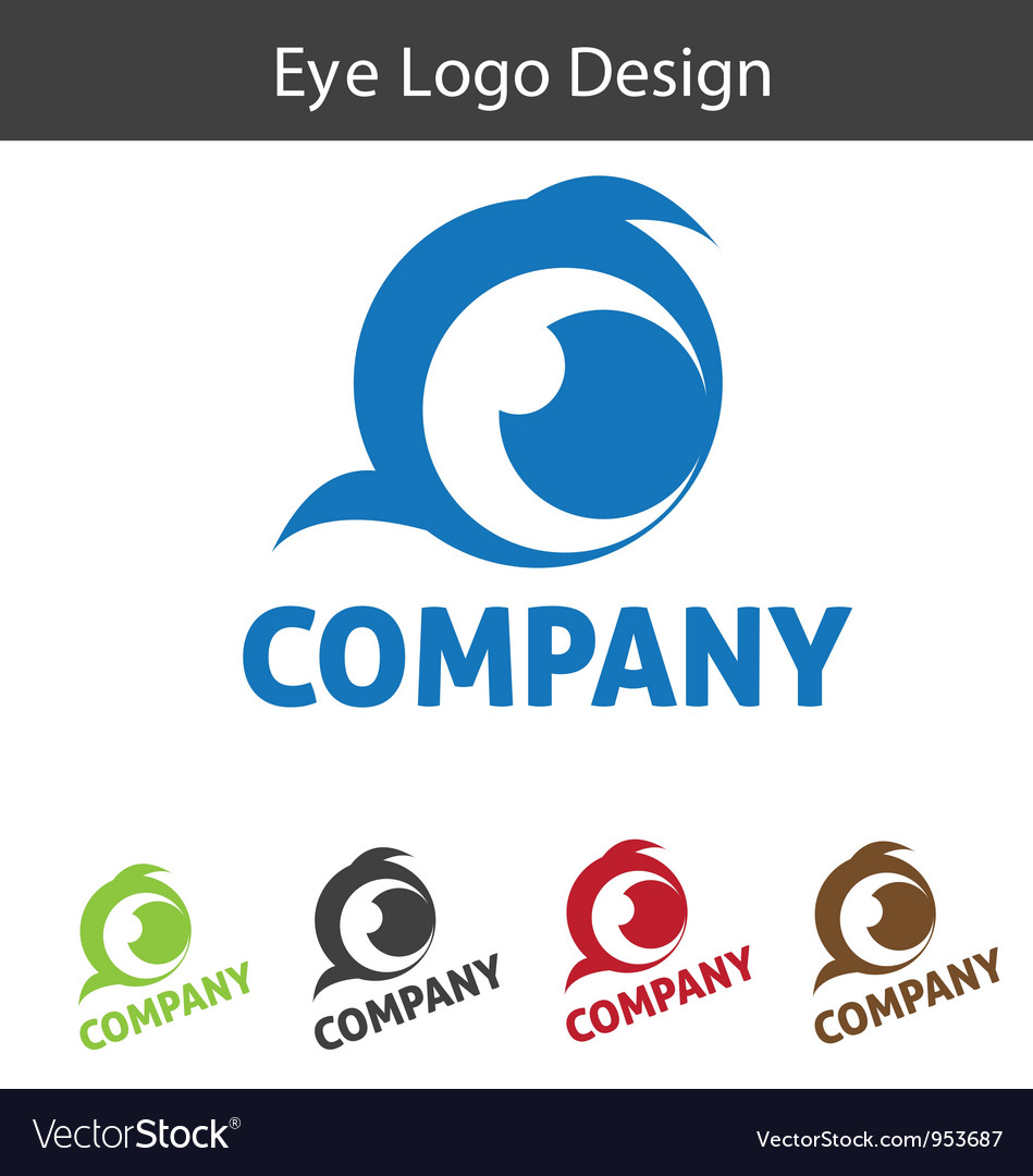 Eye logo design vector | Price: 1 Credit (USD $1)