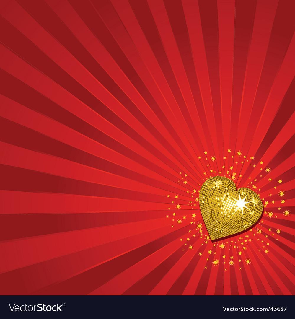 Gold valentine's heart background vector | Price: 1 Credit (USD $1)