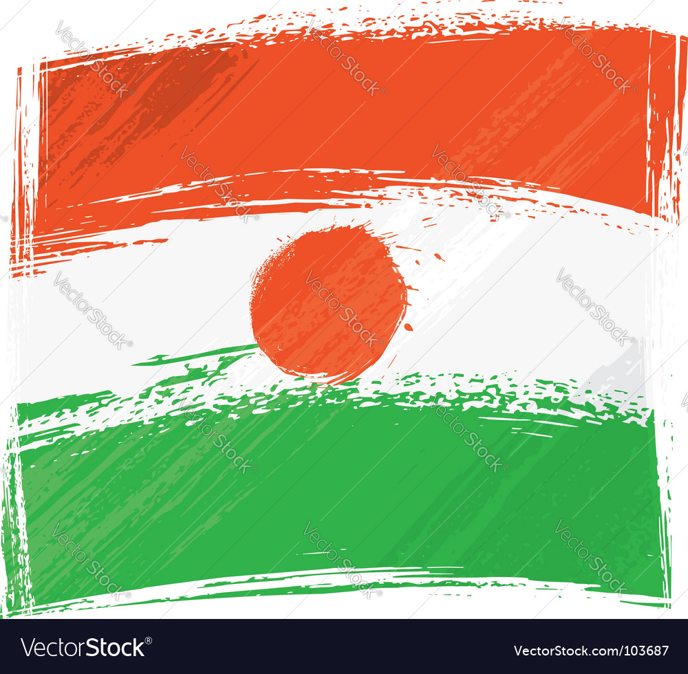 Grunge niger flag vector | Price: 1 Credit (USD $1)