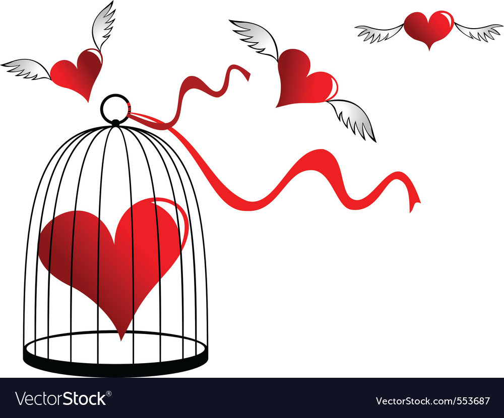 Heart in a cage vector | Price: 1 Credit (USD $1)