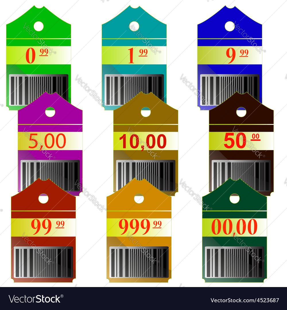 Label discount boutique price shop reduction by de vector | Price: 1 Credit (USD $1)