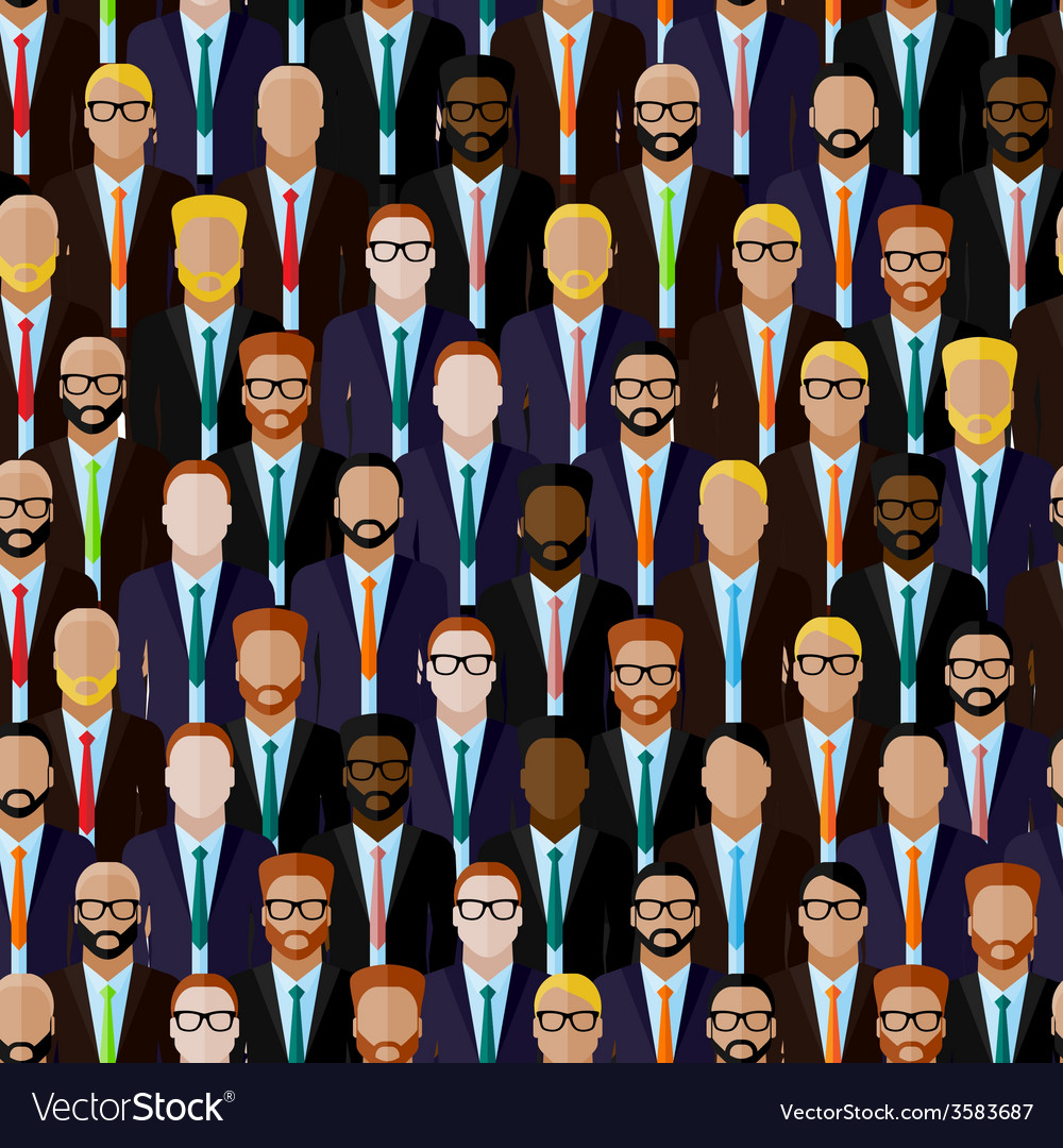 Seamless pattern with men businessmen or vector | Price: 1 Credit (USD $1)