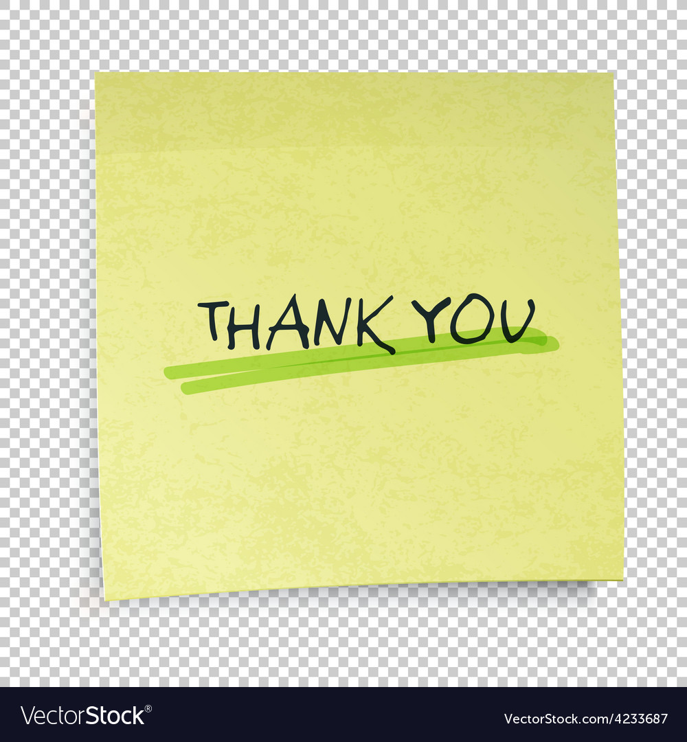 Thank you yellow paper vector | Price: 1 Credit (USD $1)