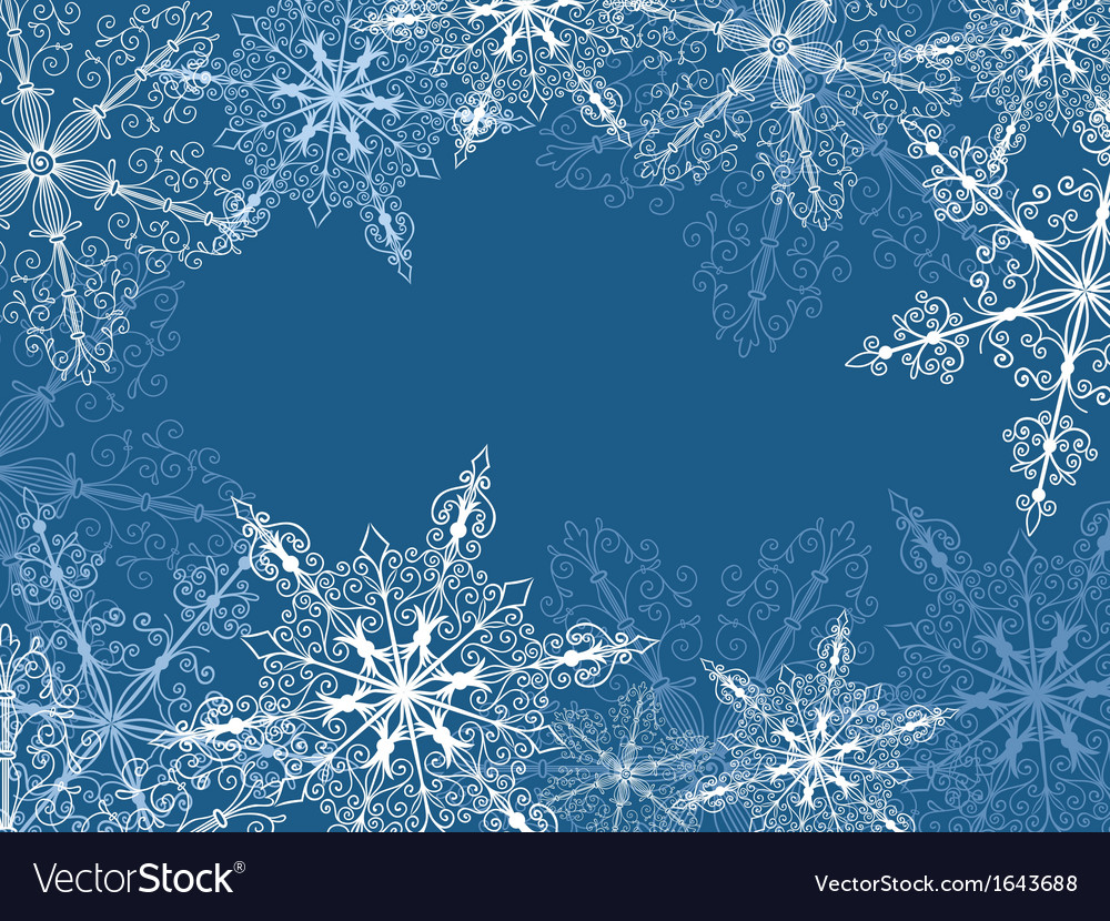Background with fragile snowflakes vector | Price: 1 Credit (USD $1)