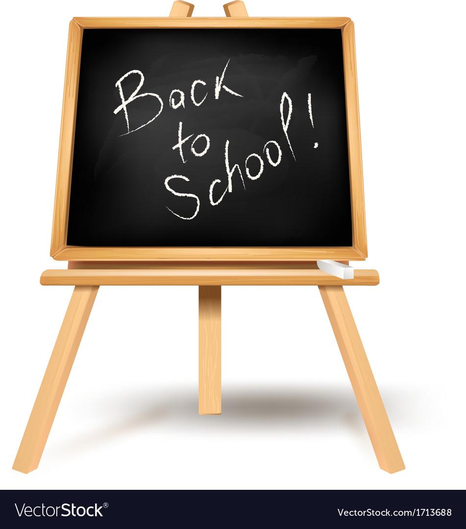 Black blackboard back to school vector | Price: 1 Credit (USD $1)