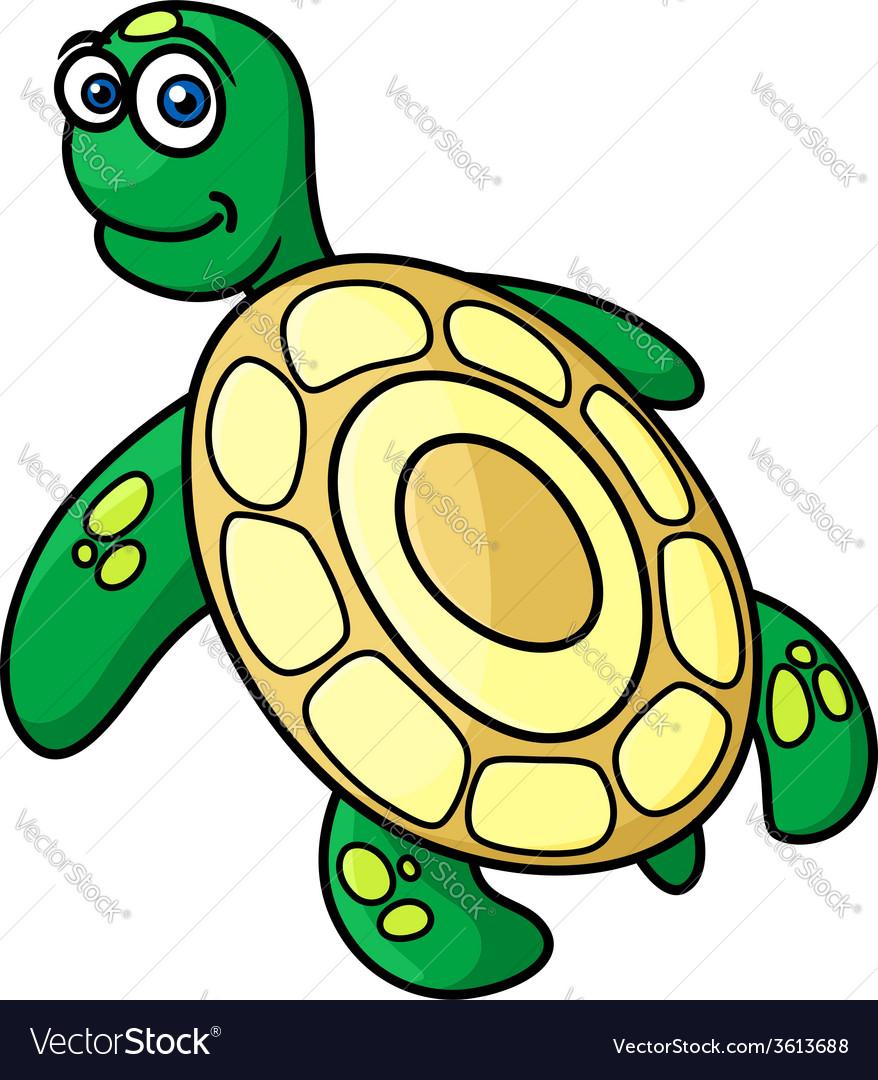Cartoon sea turtle character vector | Price: 1 Credit (USD $1)