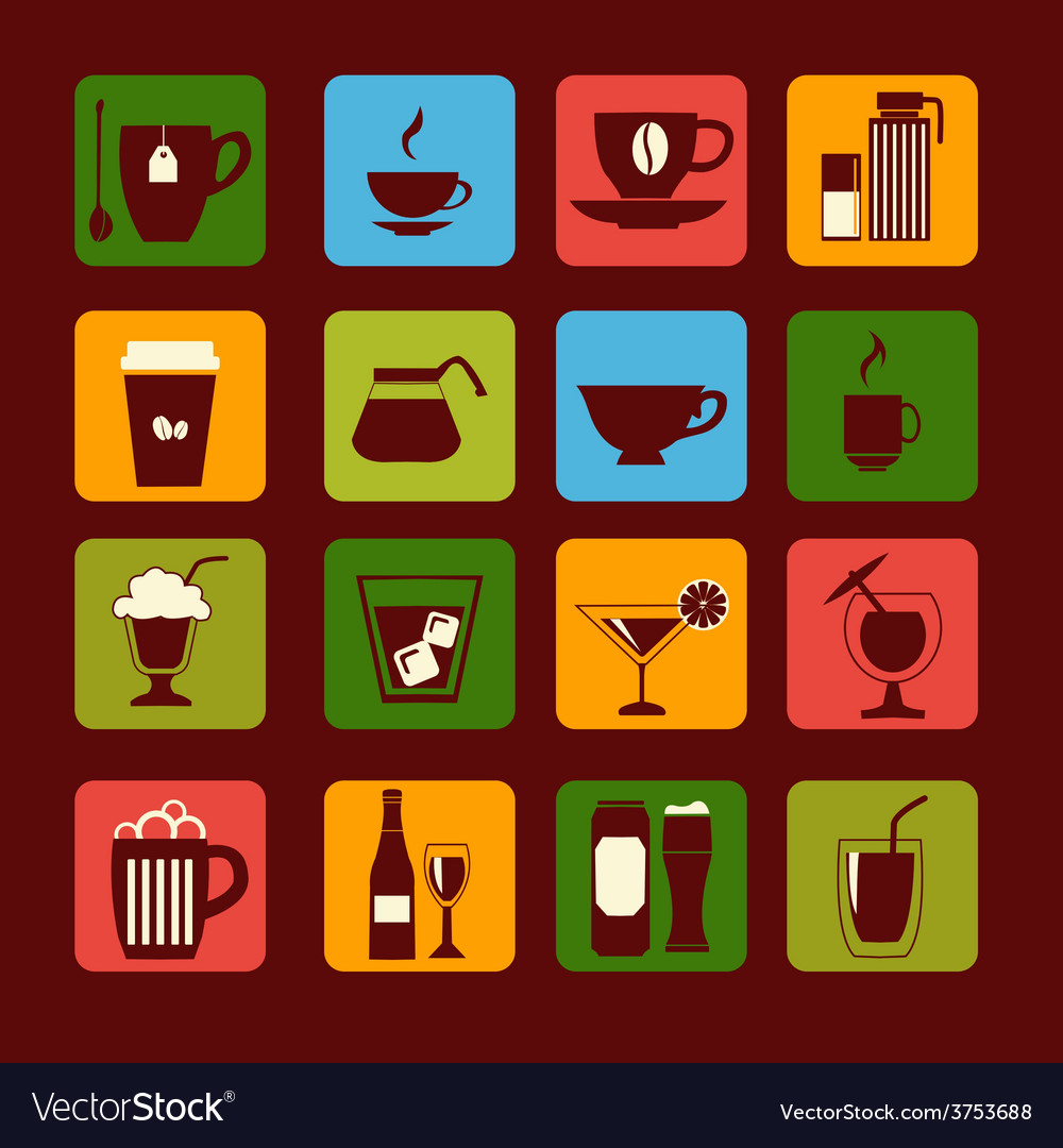 Drinks and beverages icons 38 vector | Price: 1 Credit (USD $1)