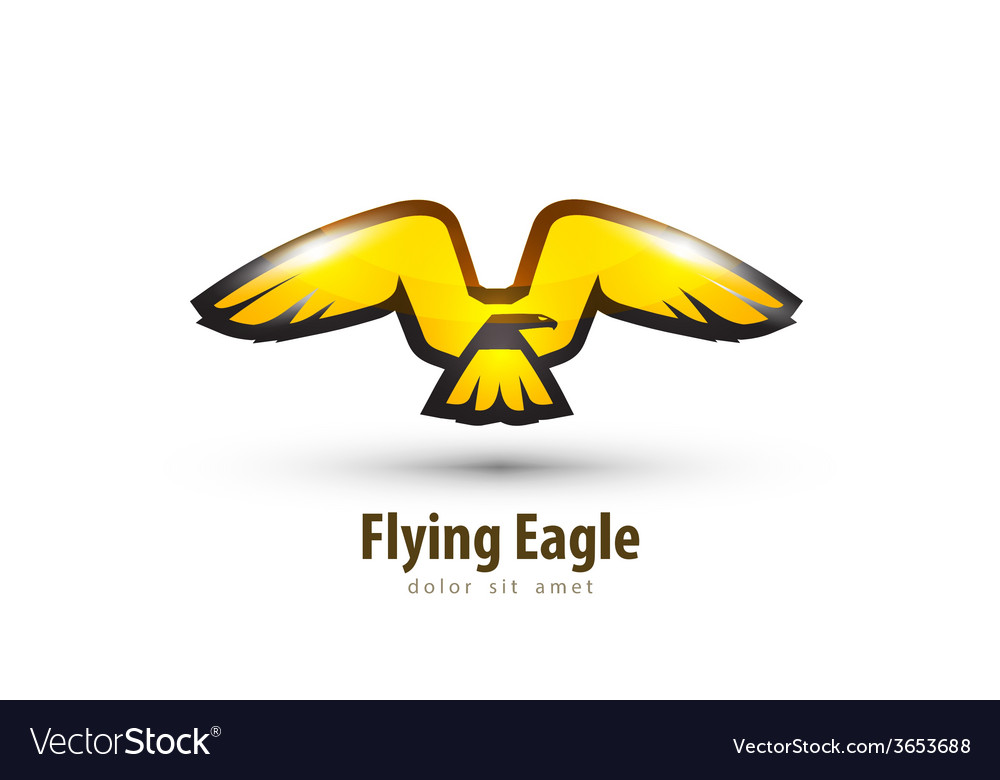 Eagle logo design template bird or animal icon vector | Price: 1 Credit (USD $1)