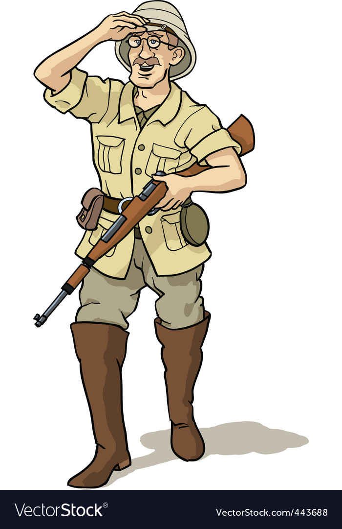 Explorer and hunter vector | Price: 3 Credit (USD $3)