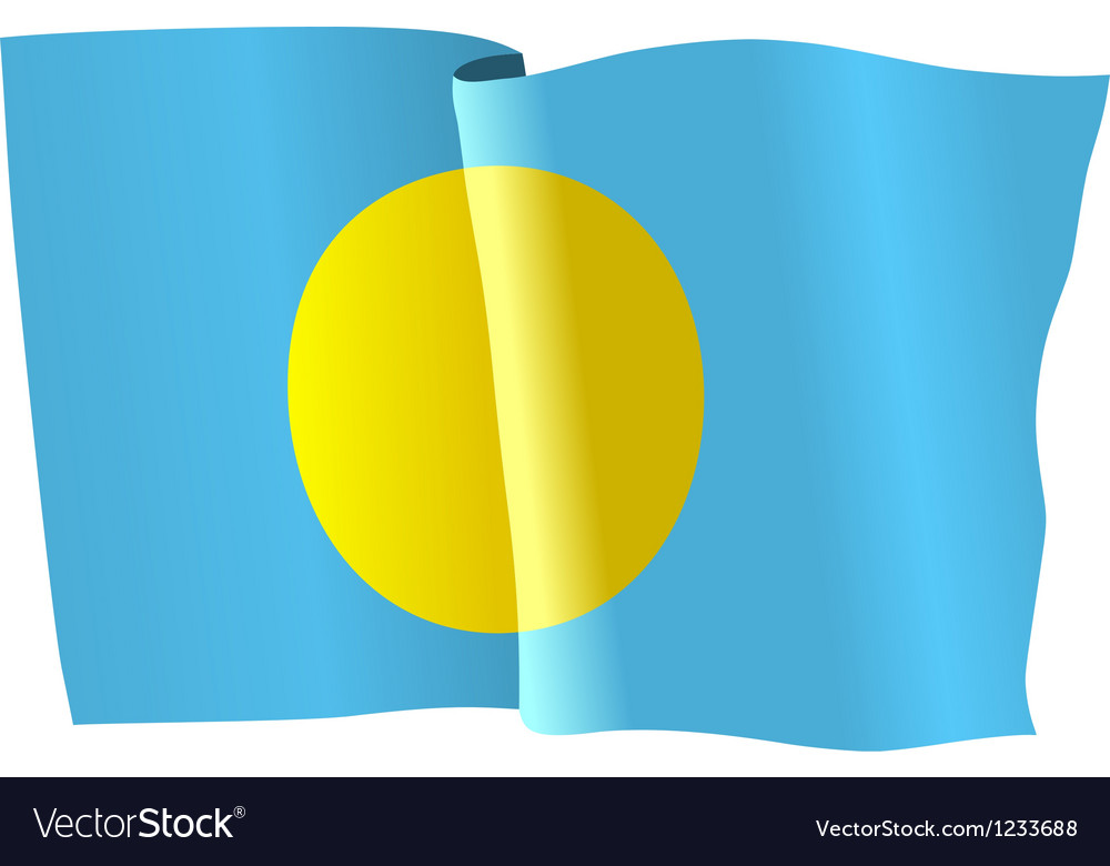 Flag of palau vector | Price: 1 Credit (USD $1)
