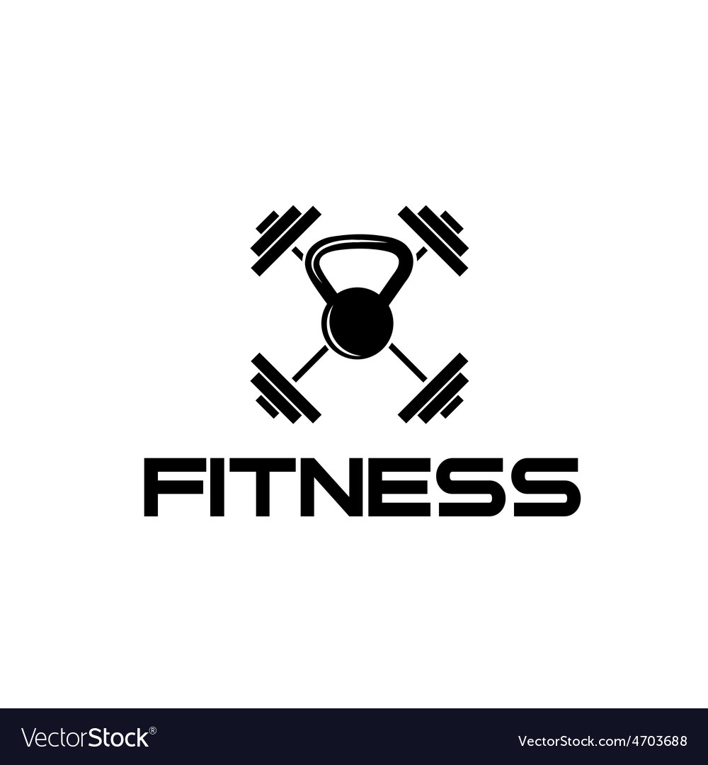 Kettlebell and barbell fitness vector | Price: 1 Credit (USD $1)