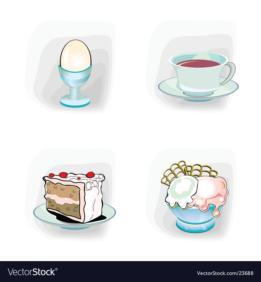 Meal icons vector | Price: 3 Credit (USD $3)