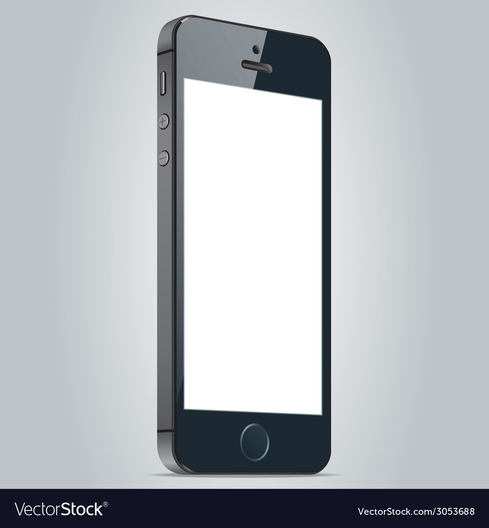 Realistic black apple iphone 5s and iphone 6 plus vector | Price: 1 Credit (USD $1)