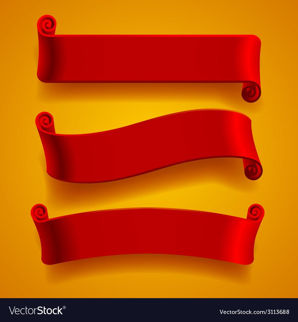 Red banners vector