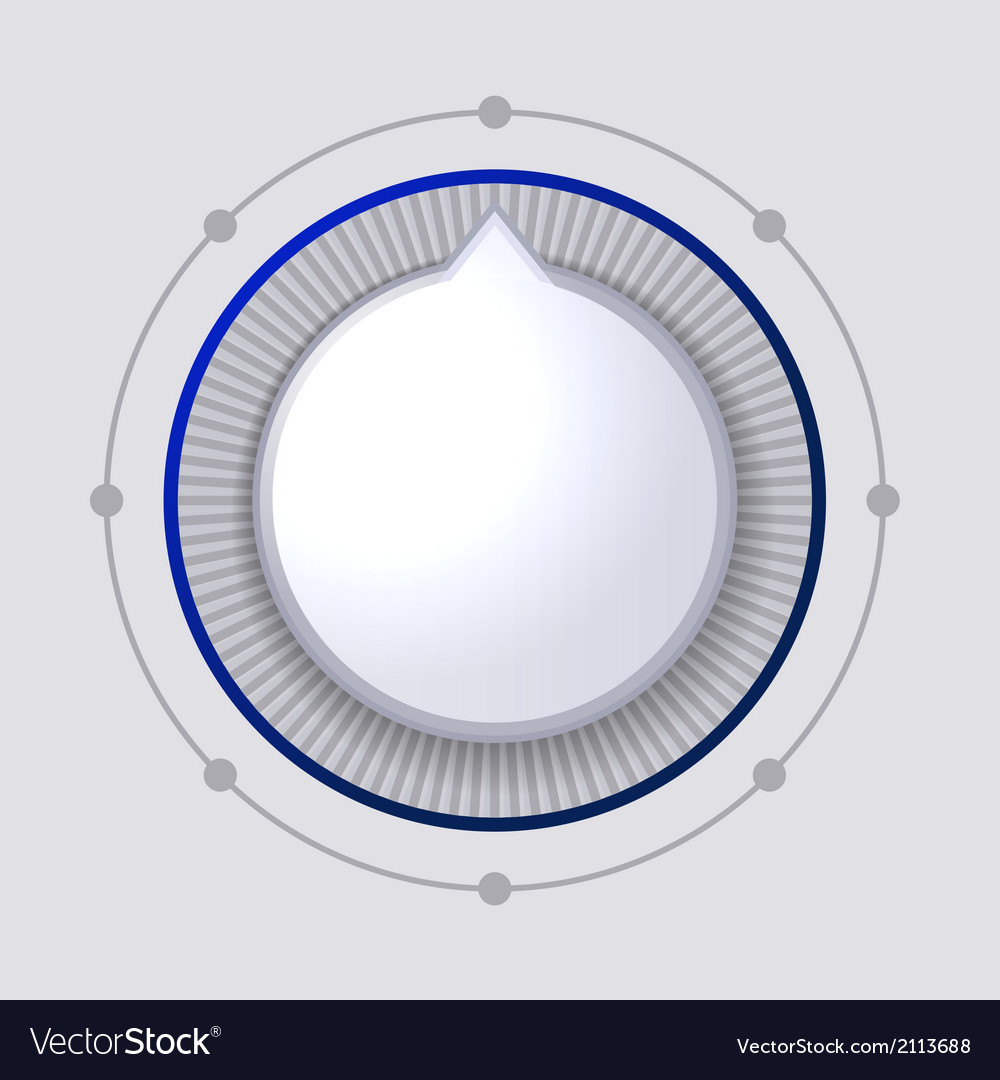 Volume control dial white button vector | Price: 1 Credit (USD $1)
