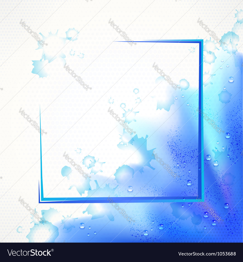 Watercolor blue frame vector | Price: 1 Credit (USD $1)