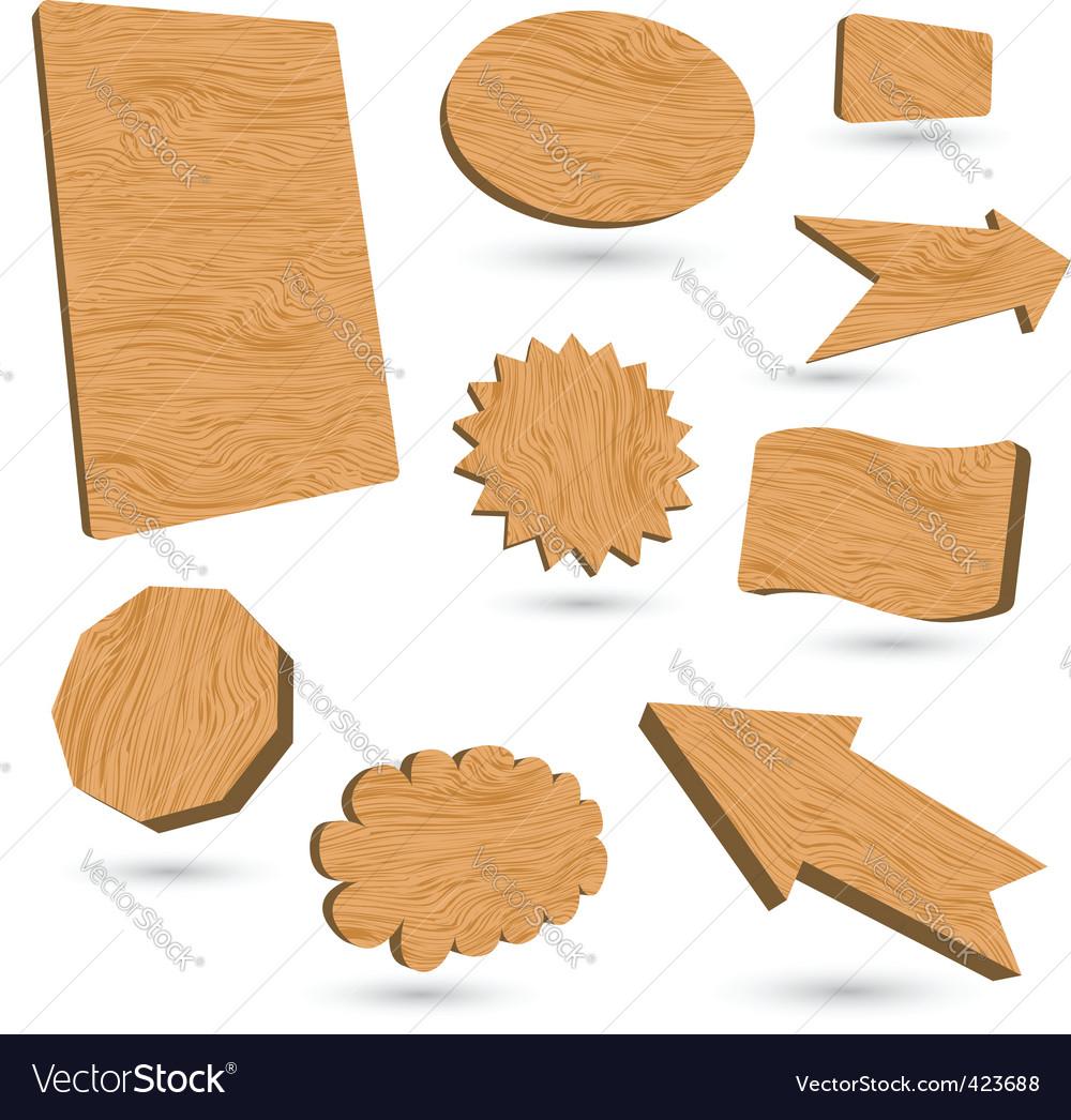 Wood labels vector | Price: 1 Credit (USD $1)