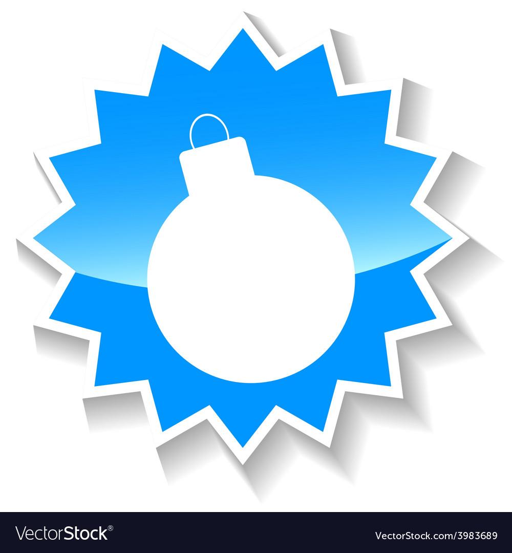 Bomb blue icon vector   Price: 1 Credit (USD $1)