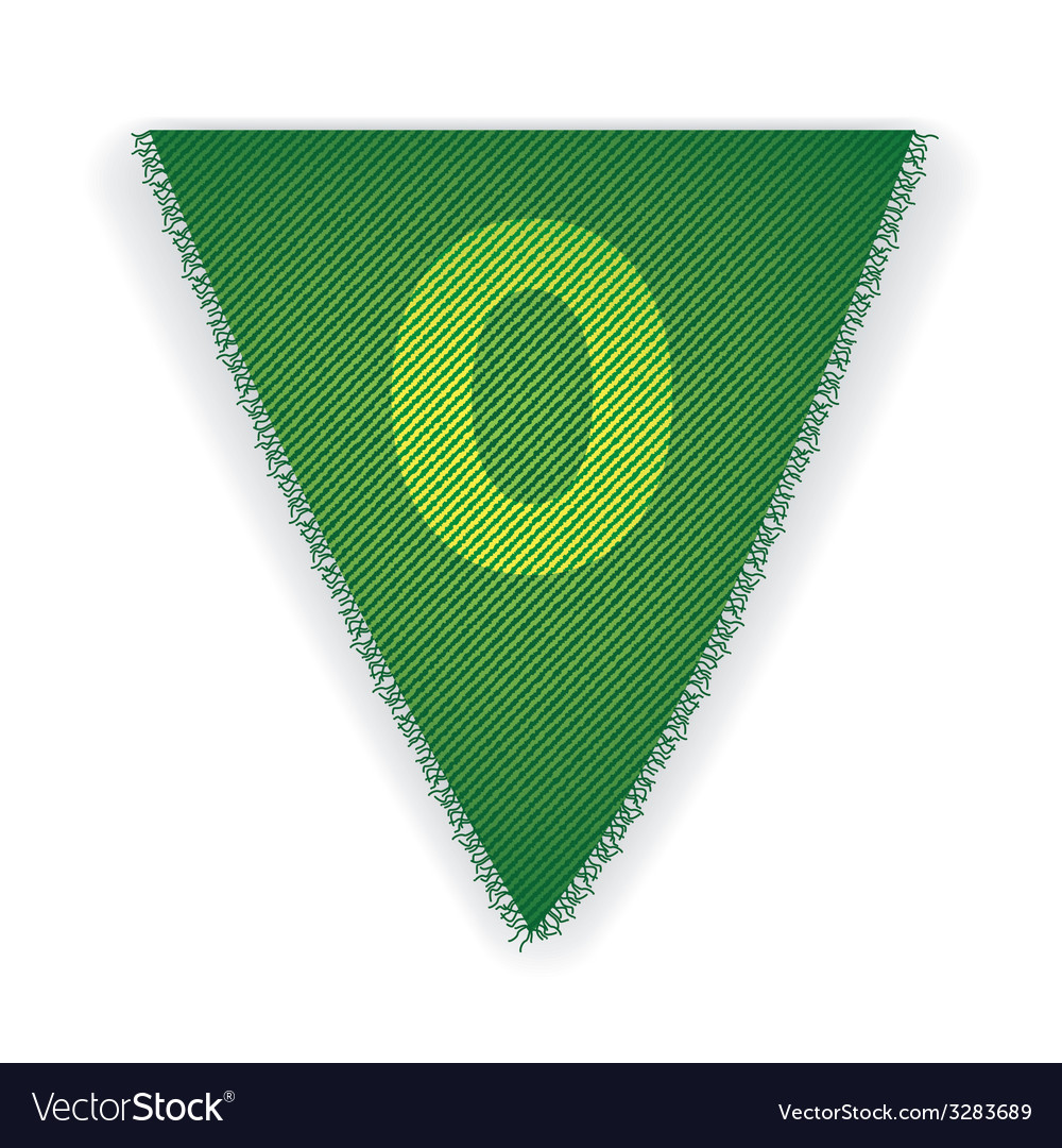 Bunting flag number 0 vector | Price: 1 Credit (USD $1)