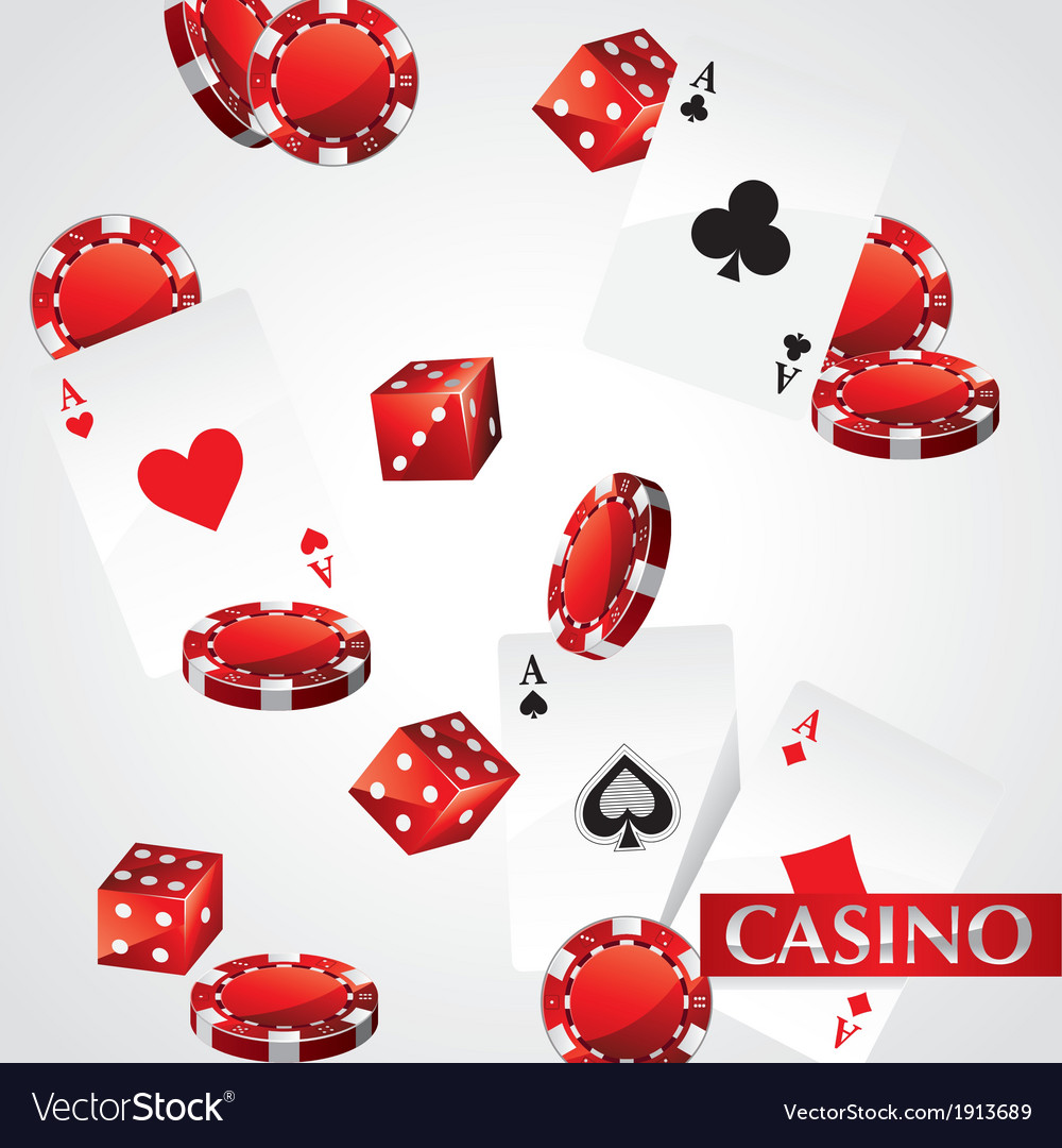 Cards chips casino poker vector | Price: 1 Credit (USD $1)