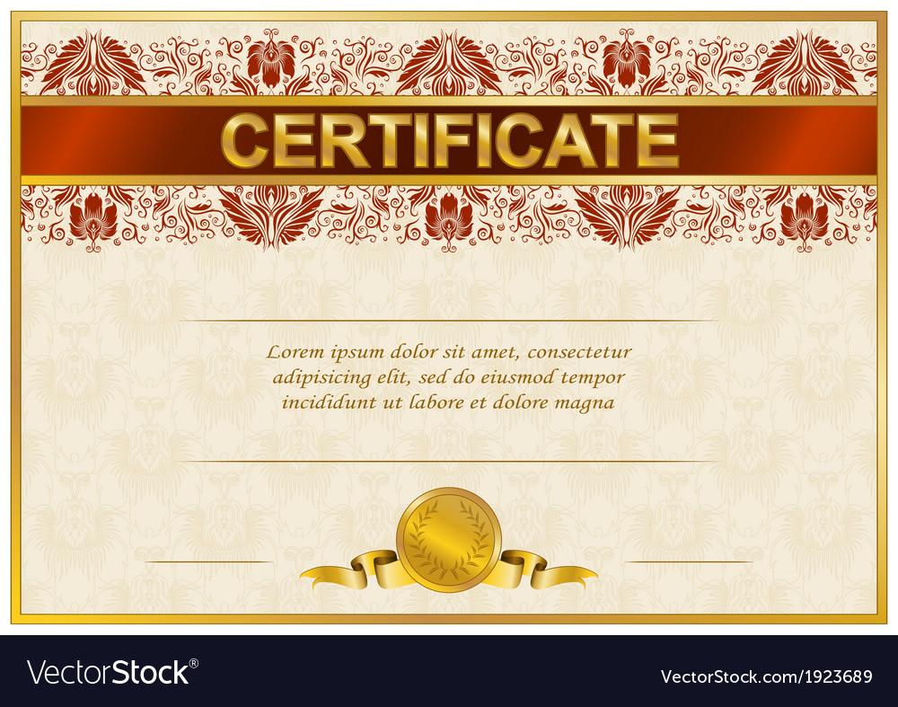 Elegant template of certificate diploma vector | Price: 1 Credit (USD $1)