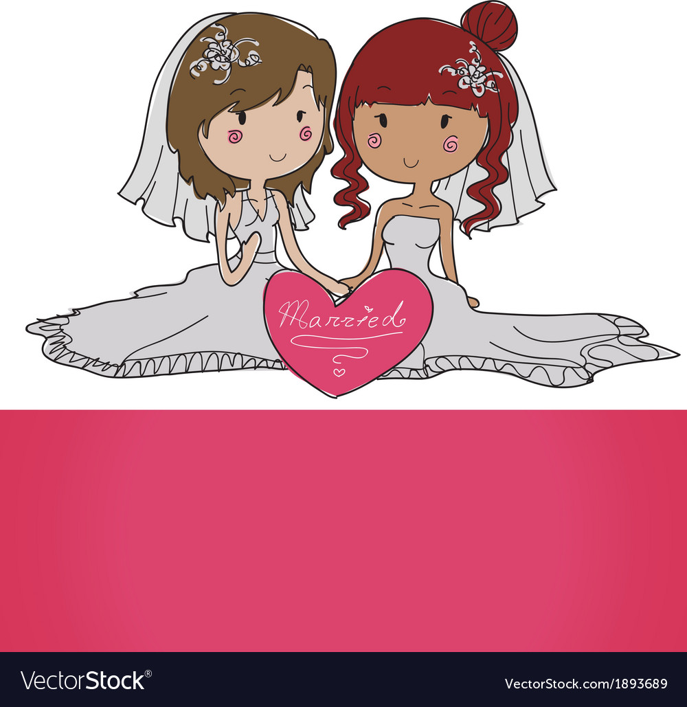 Female gay couple vector | Price: 1 Credit (USD $1)