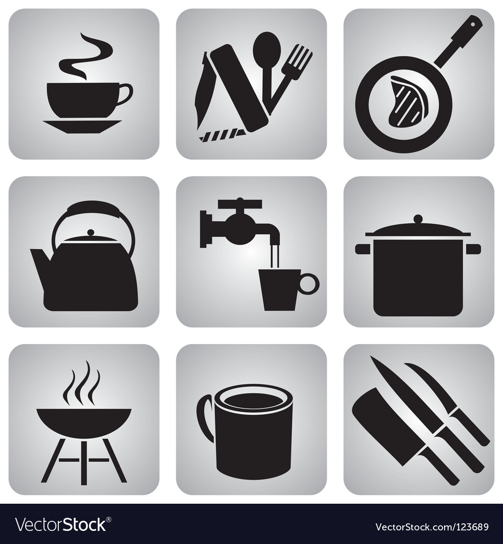 Food icons vector | Price: 1 Credit (USD $1)
