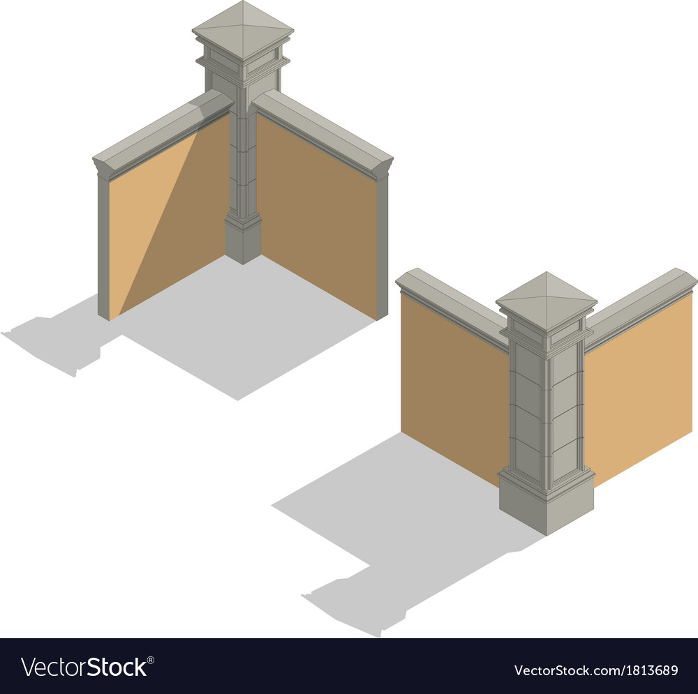 Isometric fence set construction kit vector   Price: 1 Credit (USD $1)