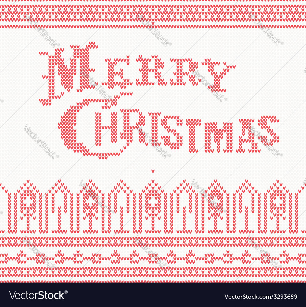 Merry christmas scandinavian text vector | Price: 1 Credit (USD $1)