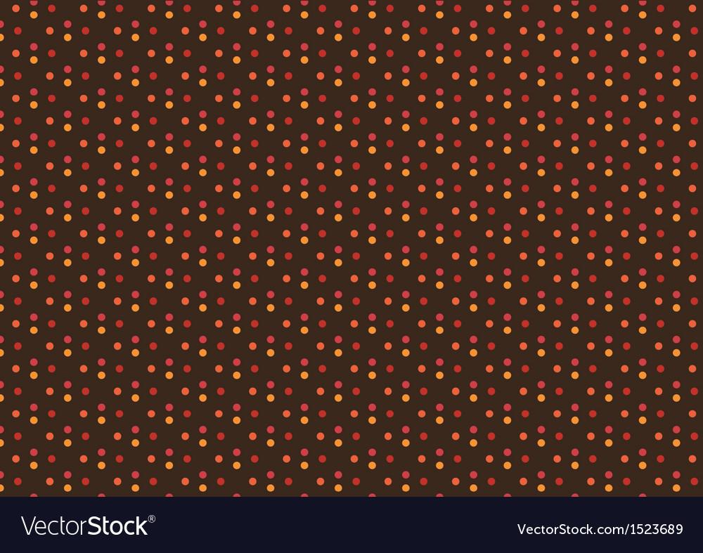Sweet autumn polka dot seamless pattern vector | Price: 1 Credit (USD $1)