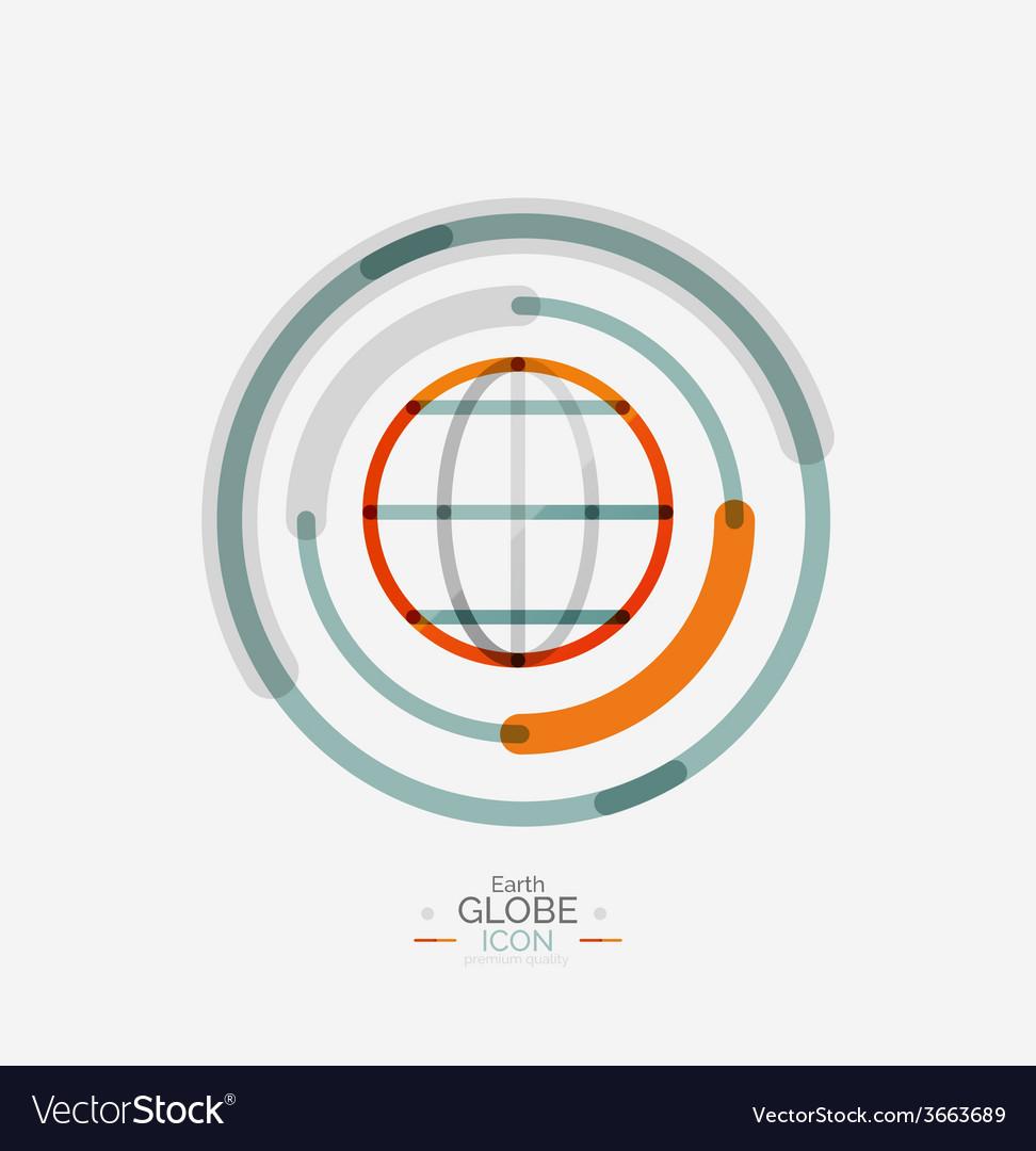 World globe logo stamp vector   Price: 1 Credit (USD $1)