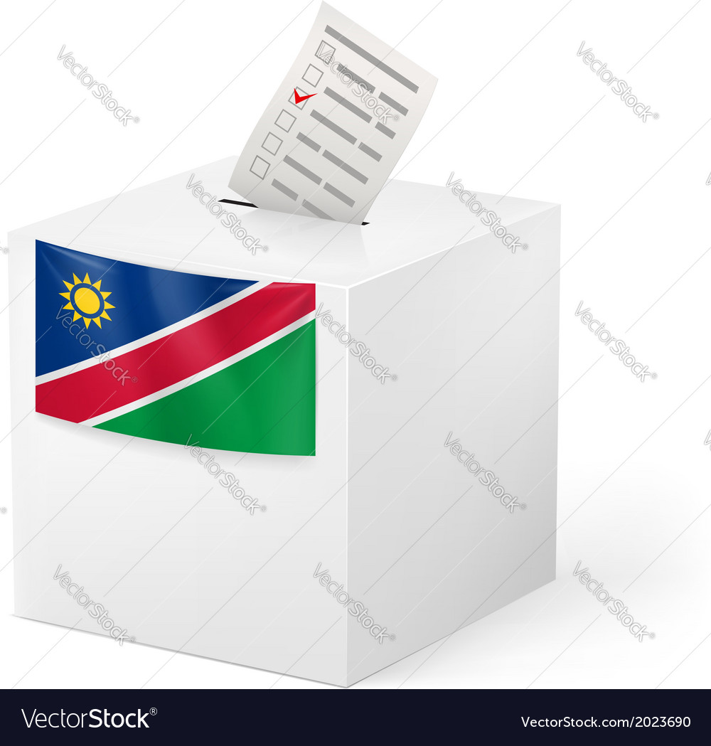 Ballot box with voting paper namibia vector | Price: 1 Credit (USD $1)