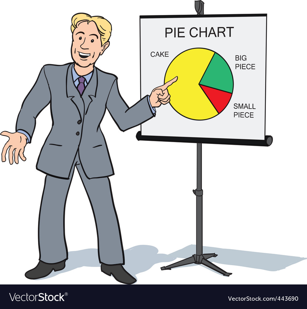 Businessman presentation vector | Price: 3 Credit (USD $3)