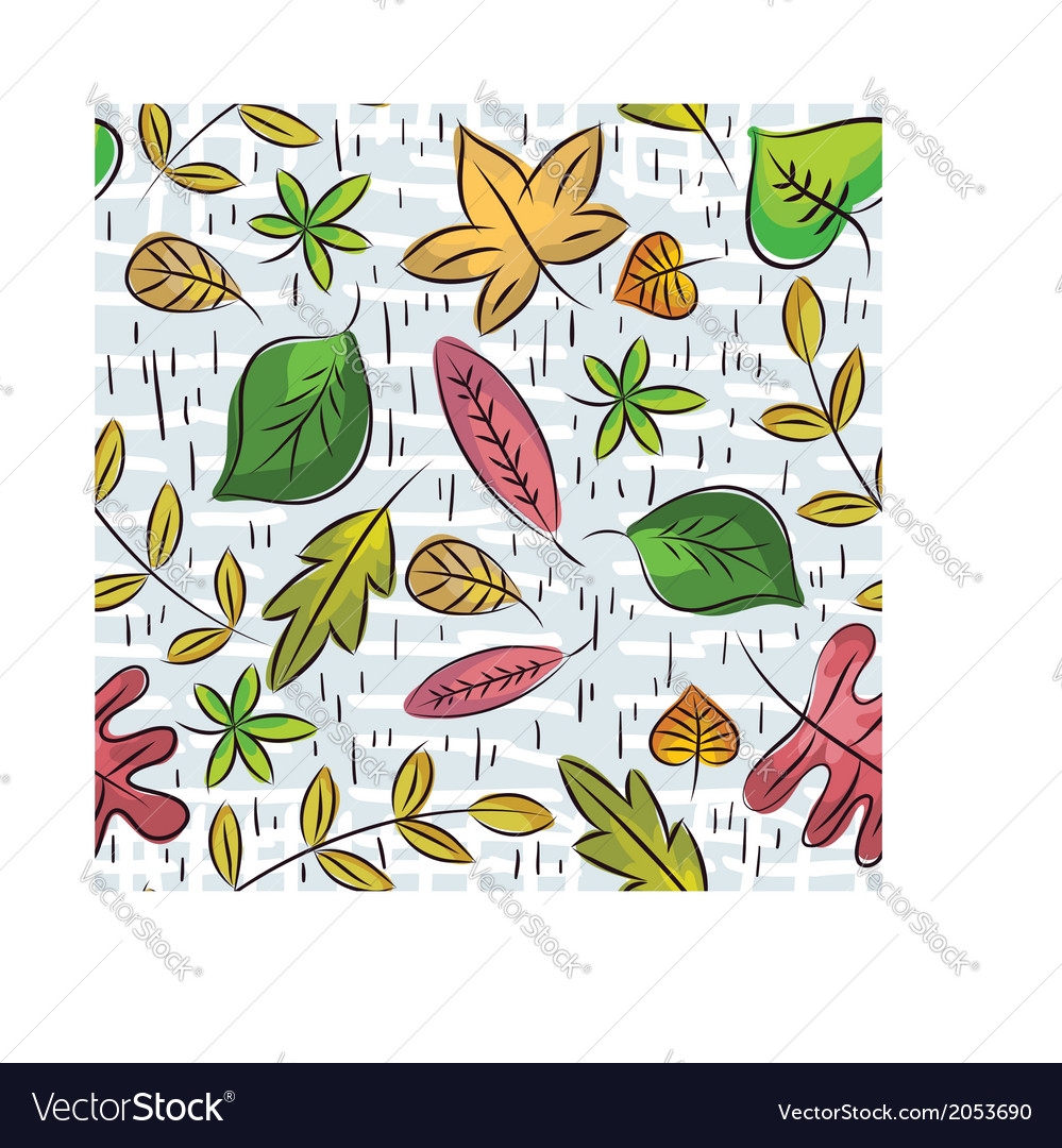 Hand draw leafs suitable wrapping paper vector | Price: 1 Credit (USD $1)