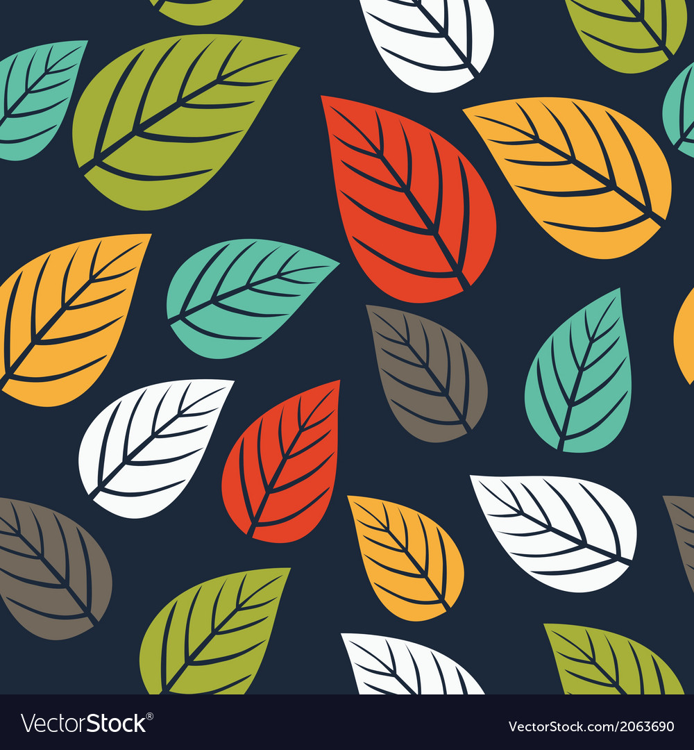 Seamless pattern with leafautumn leaf background vector | Price: 1 Credit (USD $1)